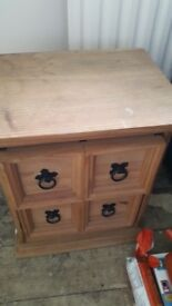 small pine draw unit good condition only £5.00