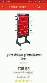 Football table 4ft. Brand new in unopened box