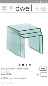 Designer nest of tables immaculate condition
