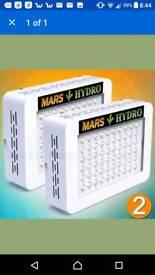 2x mars 300w led hydroponics lights