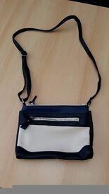 Small blue & white handbag