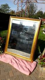 Large gilt framed mirror excellent condition