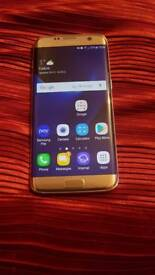 Samsung galaxy s7 edge. Platinum gold