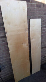 Plywood offcuts 6' x 18'' x 3mm pack of 5