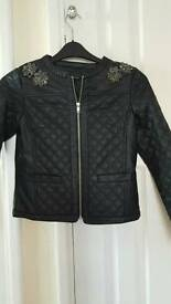 Girls leather look jacket