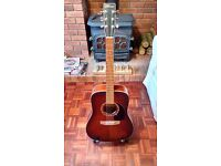 Norman Protege B18 Tobacco Burst Cedar top dreadnought guitar (handmade in Canada by GODIN)