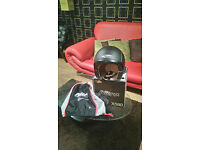brand new blak nitro openfae helmet