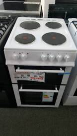 New graded Belling 50cm electric cooker with 12 months guarantee