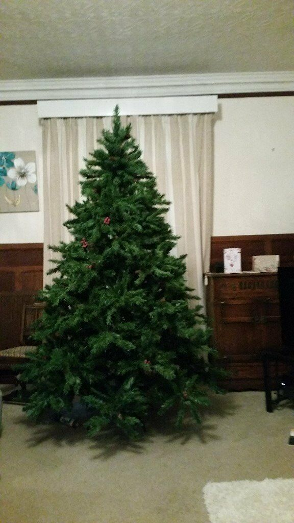 8' Artifiical Christmas Tree, Beautiful Tree 8' x 5' at widest - selling as down sized home.