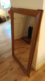 Antique large mirror, nice cut and wooden frame