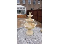 Sandstone water fountain for sale. 3 tiers