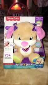 Fisher-Price Laugh and Learn Pink Puppy Toy