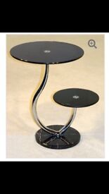 Stylish 2 tier office / home telephone / vase / coffee / drinks - table