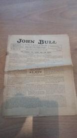 Vintage John Bull Sunday newspaper September 8th 1921
