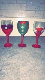 Christmas Glasses For Sale
