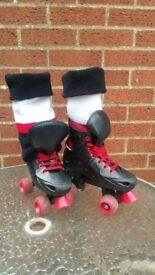 Roller Skates UK size 13 with puffa socks