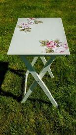 Folding Green side table