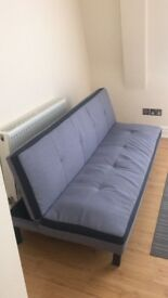 Bayswater / Fabric Sofa bed 3 seater 50gbp pick up only