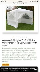 BNIB White 3x3 Airwave Gazebo £50