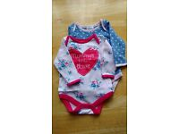 Baby girl long sleeve bodysuits -0-3 months - used