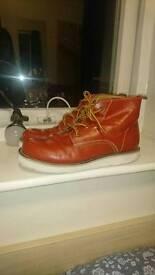 Orange/Red Boots UK size 5