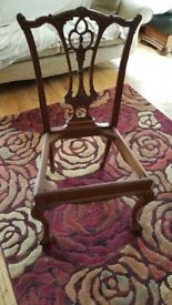 6 Dining chairs and 2 carvers