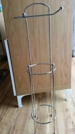 Chrome Toilet Roll Store and Holder NWOT