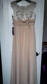 Maxi dress peach colour