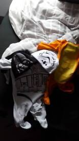 Star wars baby grow and matching hats