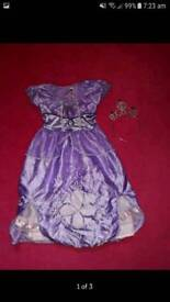 Sofia the first dress up costume with crown