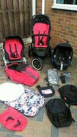 Phil & Teds Navigator double pram, pushchair, travel system and accessories