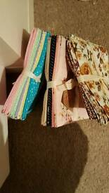 Hobbycraft fat quarters. Pastel and polka dot.