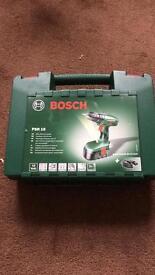 Bosch cordless hand drill.