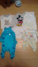 Disney Baby Clothes Bundle (0-3 months) + plus baby dragon costume
