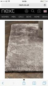 Next shimmer rug in mink 80x150