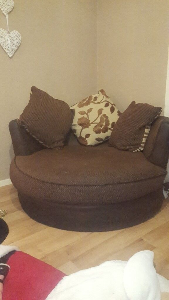 4 seater and a swivel chair