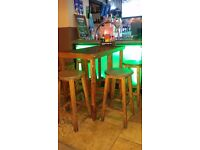2nd hand Wooden Bar Stools and Bar tables for sale - collection only