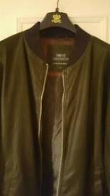 Next leather bomber jacket XL