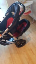 Double pushchair Phil and Ted Vibe and basket
