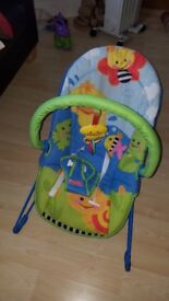 Fisher-price friendly first bouncer #Boxed almost new# 15 pounds only.