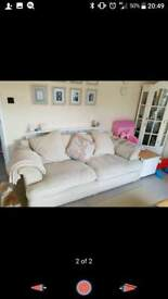Three seater sofa x2