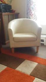 Cream tub chair (2 available)