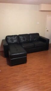 Black sectional couch looking $230 or best offer