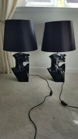 Pair of two black Bust Lampshades. Pick Up Only!