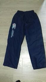 Childrens Canterbury tracksuit bottoms