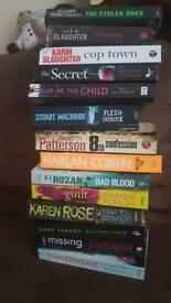 14 x crime/ thriller books