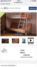 Metal bunk beds(double/couch + single) great condition
