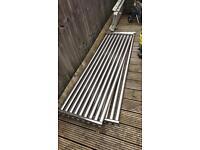 2 x chrome upright radiators