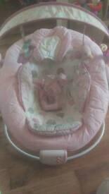 Pink, baby, girls, comfort harmony, vibrating, bouncer