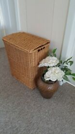 Wicker laundry basket in good clean condition